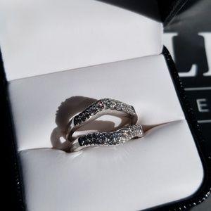 .53TW 14W 2 Row Diamond Guard Ring